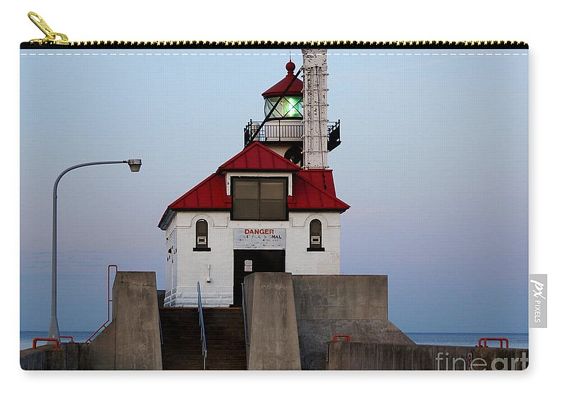 Lighthouse Carry-all Pouch featuring the photograph Lighthouse by Lori Tordsen