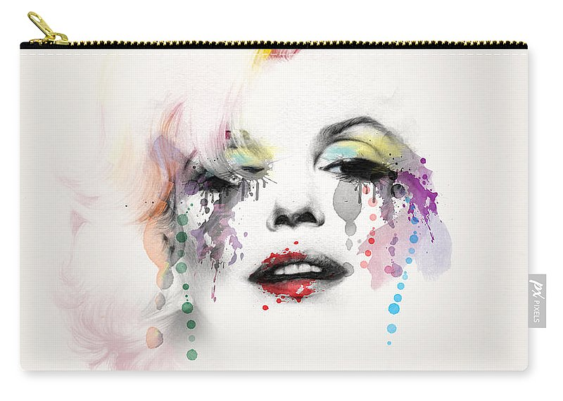 Pop Art Carry-all Pouch featuring the painting Marilyn Monroe by Mark Ashkenazi