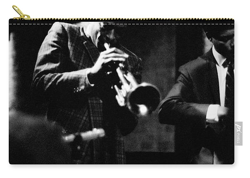 Jazz Carry-all Pouch featuring the photograph Miles Davis At The Penthouse by Dave Coleman