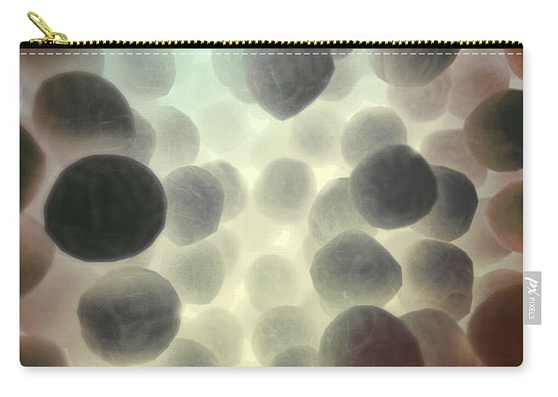 Coccus-shaped Carry-all Pouch featuring the photograph Mrsa by Science Picture Co