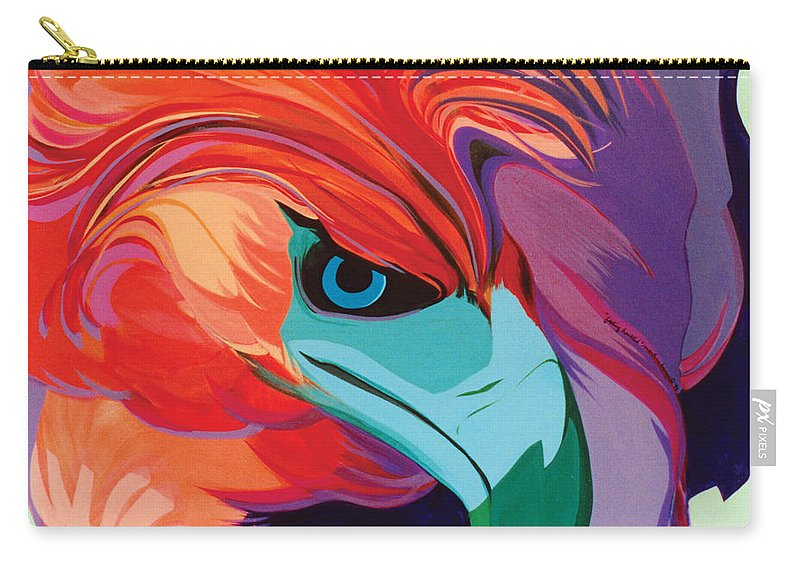 Sets Carry-all Pouch featuring the painting 4 Perplex 1 by Marlene Burns