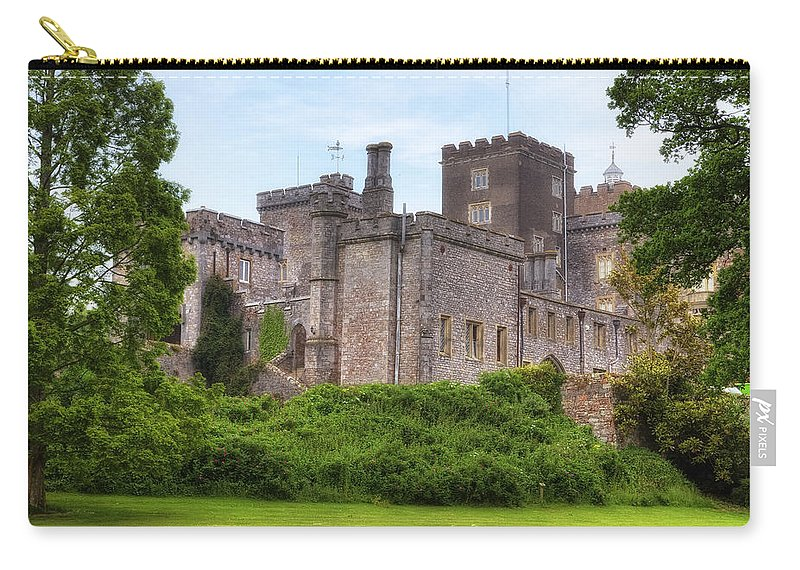 Powderham Castle Carry-all Pouch featuring the photograph Powderham Castle by Joana Kruse
