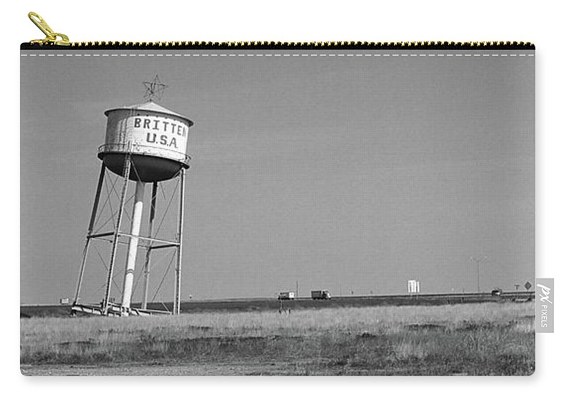 66 Carry-all Pouch featuring the photograph Route 66 - Leaning Water Tower by Frank Romeo