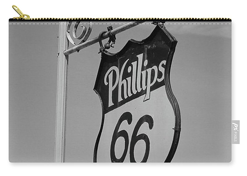 66 Carry-all Pouch featuring the photograph Route 66 - Mclean Texas by Frank Romeo