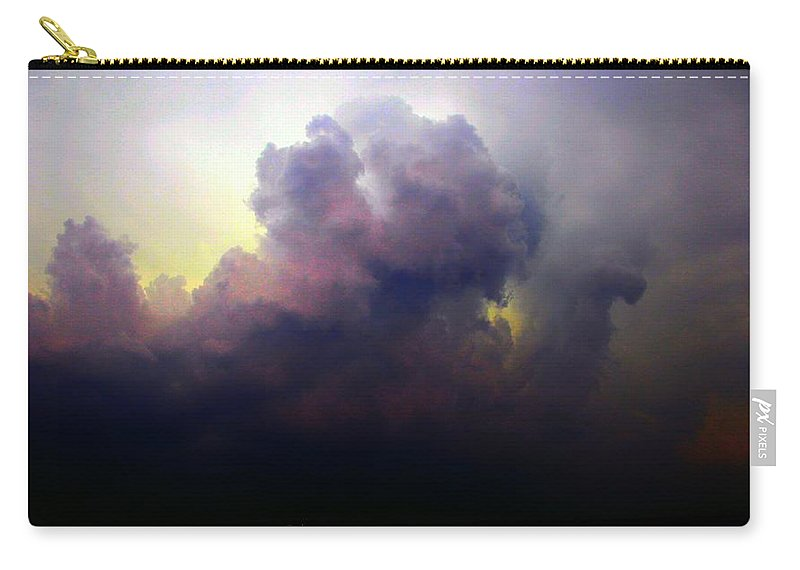 Stormscape Carry-all Pouch featuring the photograph Severe Cells Over South Central Nebraska by NebraskaSC