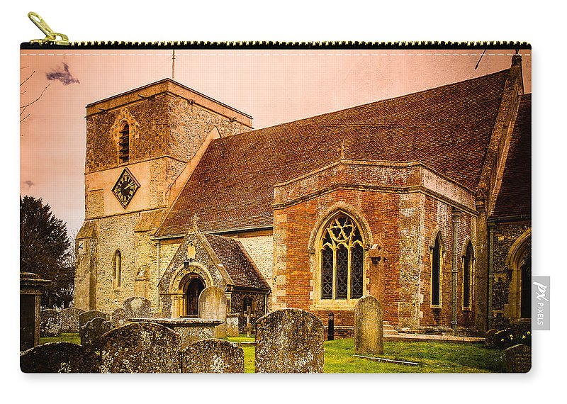 Berkshire Carry-all Pouch featuring the photograph St Marys Church Kintbury by Mark Llewellyn