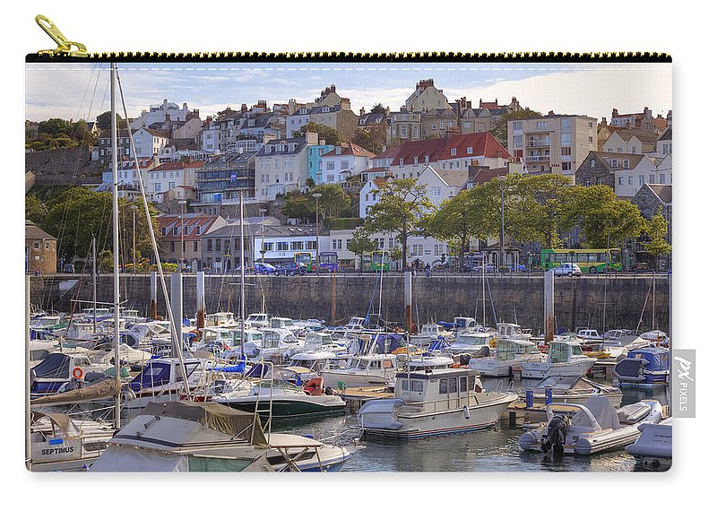 City Carry-all Pouch featuring the photograph St Peter Port - Guernsey by Joana Kruse