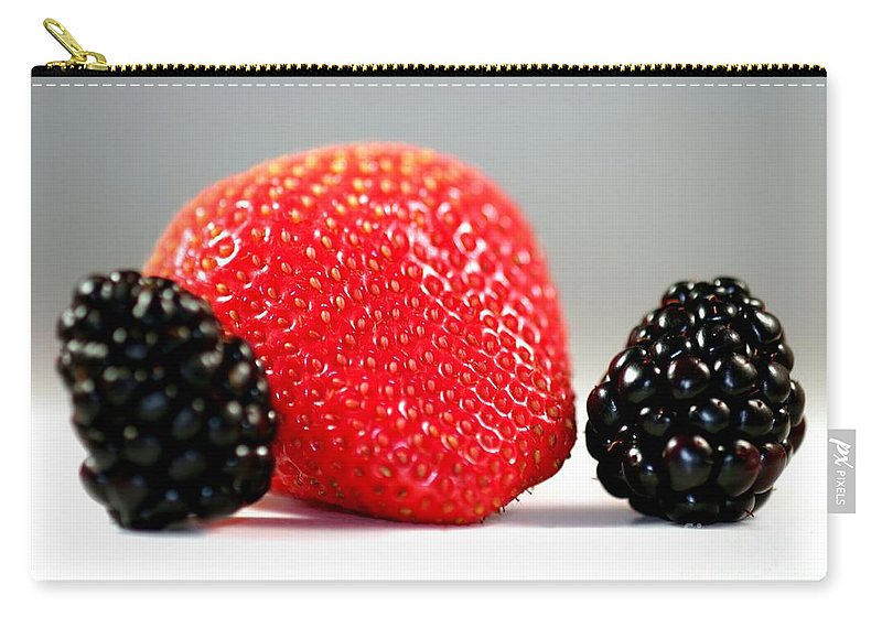 Fruit Carry-all Pouch featuring the photograph Strawberry Blackberry by Henrik Lehnerer