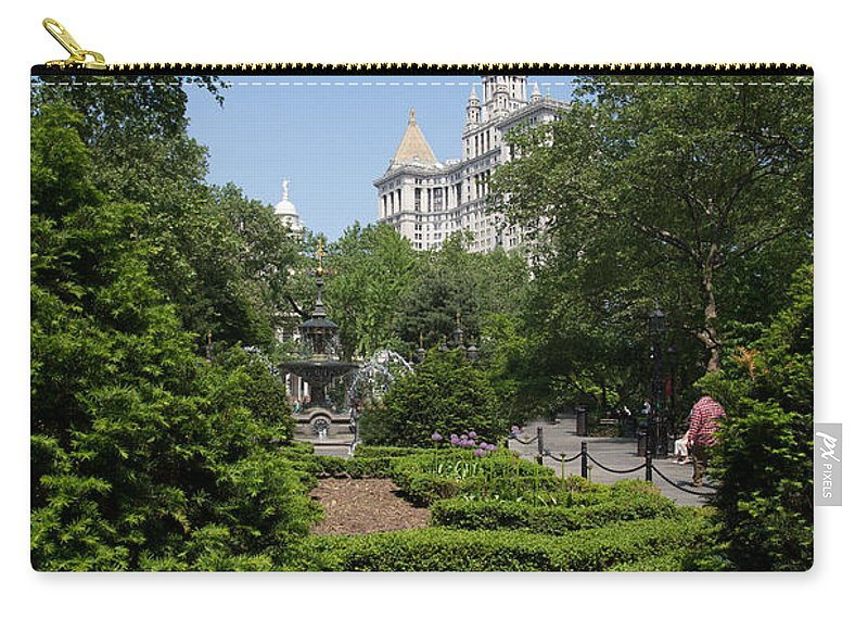 Downtown Carry-all Pouch featuring the digital art Street Scenes by Carol Ailles