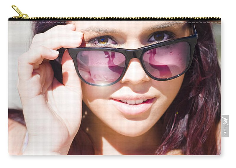Attractive Carry-all Pouch featuring the photograph Summer Fashion by Jorgo Photography - Wall Art Gallery