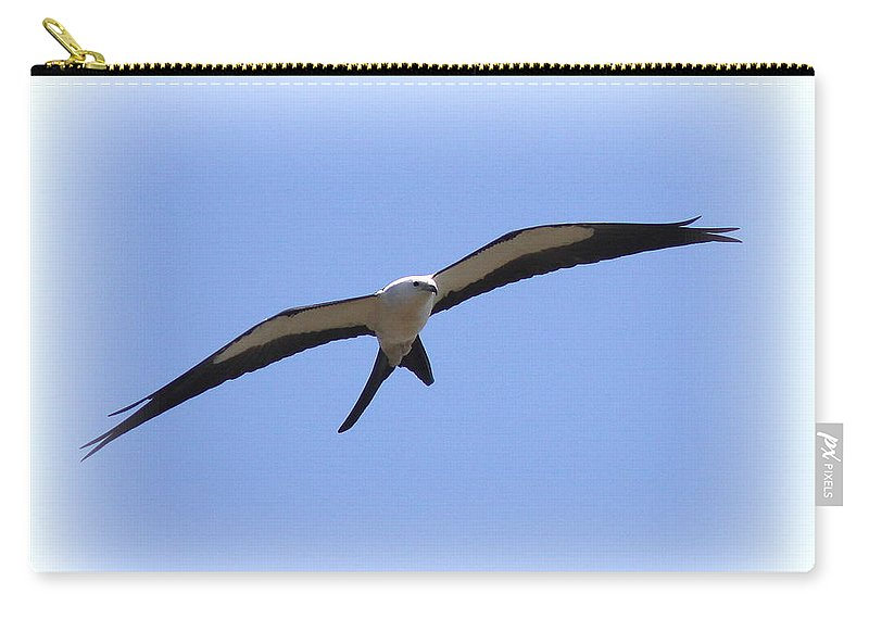 Swallow-tailed Kite Carry-all Pouch featuring the photograph Swallow-tailed Kite by Travis Truelove
