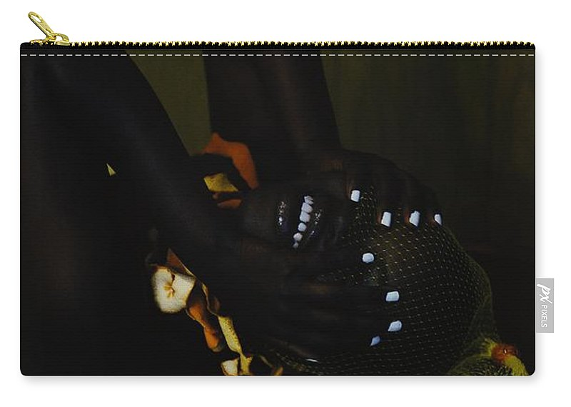 Headwear Carry-all Pouch featuring the photograph The Black Victorian by Stephanie Nnamani
