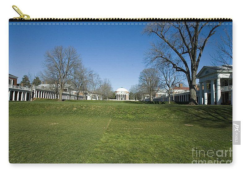 University Of Virginia Uva Charlottesville Virginia Carry-all Pouch featuring the photograph The Rotunda On The Lawn by Jason O Watson