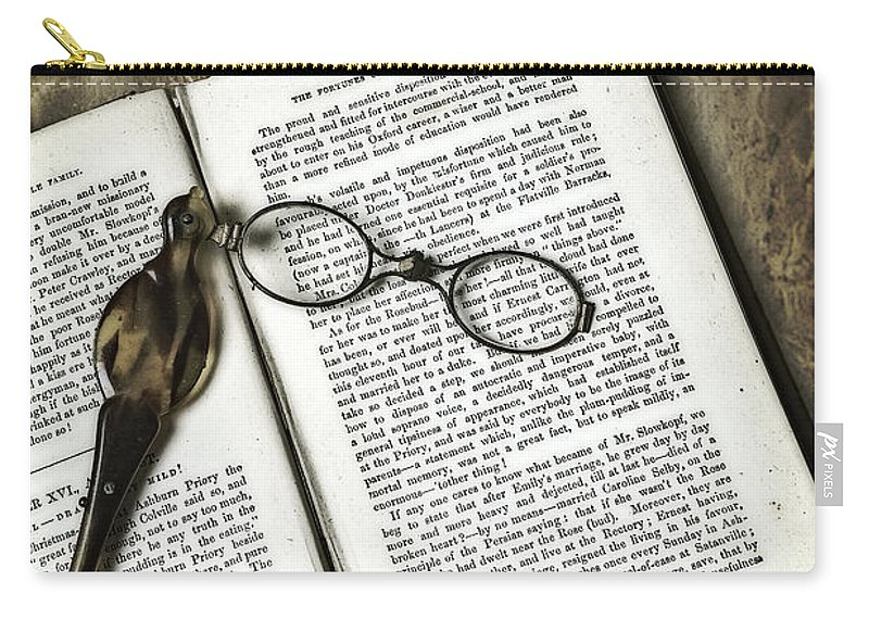 Lorgnette Carry-all Pouch featuring the photograph Time To Read by Joana Kruse