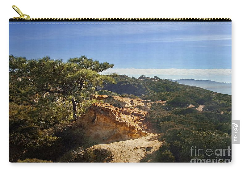 Torrey Pines State Park Carry-all Pouch featuring the photograph Torrey Pines State Park - California by Yefim Bam