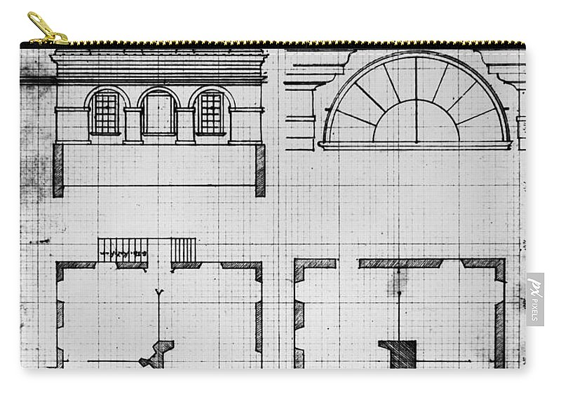 1825 Carry-all Pouch featuring the photograph University Of Virginia by Granger
