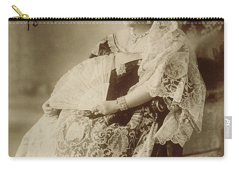1897 Carry-all Pouch featuring the photograph Victoria Of England (1819-1901) by Granger