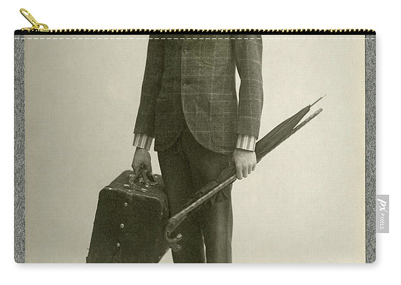 1908 Carry-all Pouch featuring the photograph William Hodge (1874-1932) by Granger