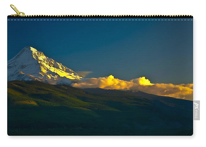 Mt Hood Carry-all Pouch featuring the photograph 41010-91 A Mt Hood Sunset by Albert Seger