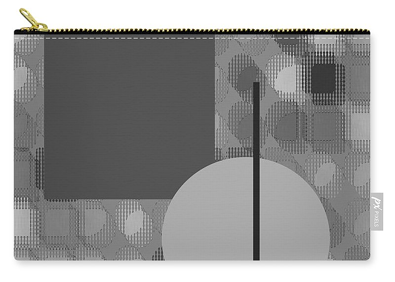 Interior Design Carry-all Pouch featuring the digital art 48th Shade Of Gray by Paulette B Wright