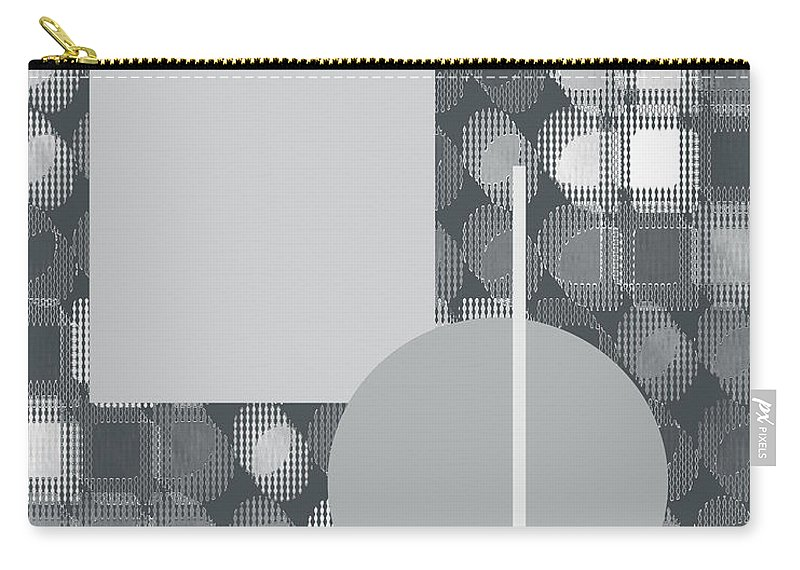 Interior Design Carry-all Pouch featuring the digital art 49th Shade Of Gray by Paulette B Wright