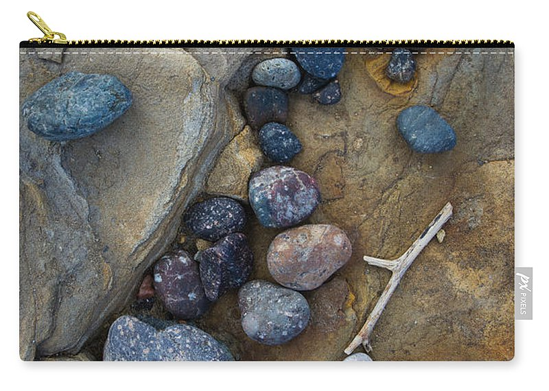 Rock Carry-all Pouch featuring the photograph Art Rock by Dayne Reast