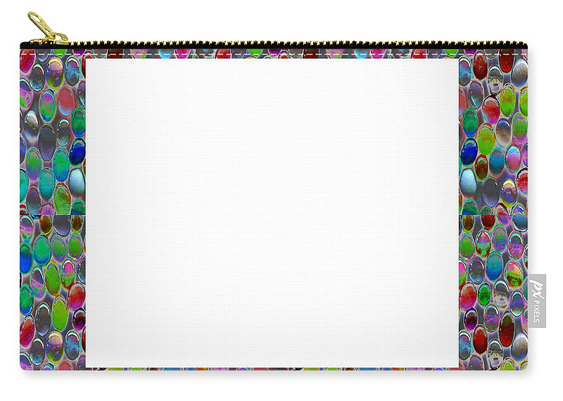 Borders Carry-all Pouch featuring the painting Border Frames Square Buy Any Faa Produt Or Download For Self-printing Navin Joshi Rights Managed Im by Navin Joshi