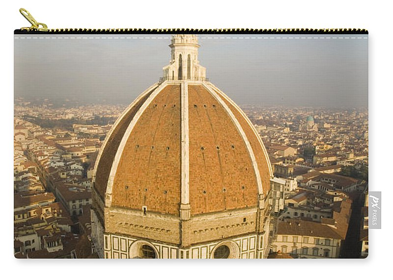 Travel Carry-all Pouch featuring the photograph Brunelleschi's Dome At The Basilica Di Santa Maria Del Fiore by Jason O Watson