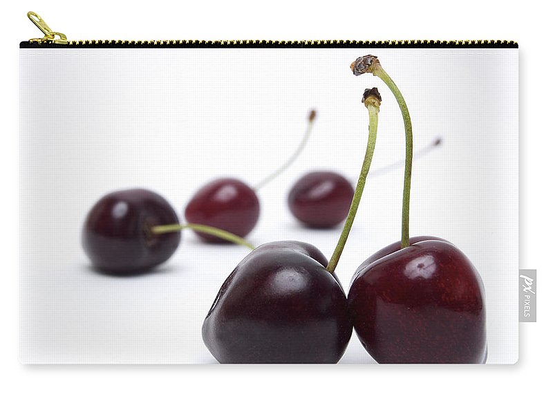 Cherry Carry-all Pouch featuring the photograph Cherries by Bernard Jaubert