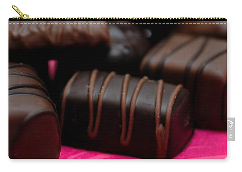 Be My Valentine Carry-all Pouch featuring the photograph Chocolate Candies by Amy Cicconi