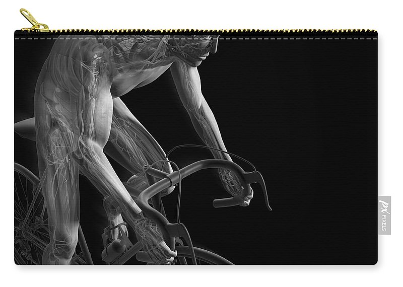3d Visualisation Carry-all Pouch featuring the photograph Cycling by Science Picture Co