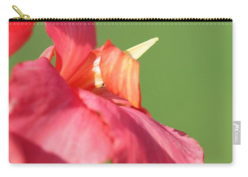 Canna Carry-all Pouch featuring the photograph Dwarf Canna Lily Named Shining Pink by J McCombie