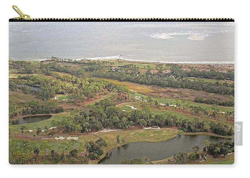 Jekyll Carry-all Pouch featuring the photograph East Coast Aerial Near Jekyll Island by Betsy Knapp