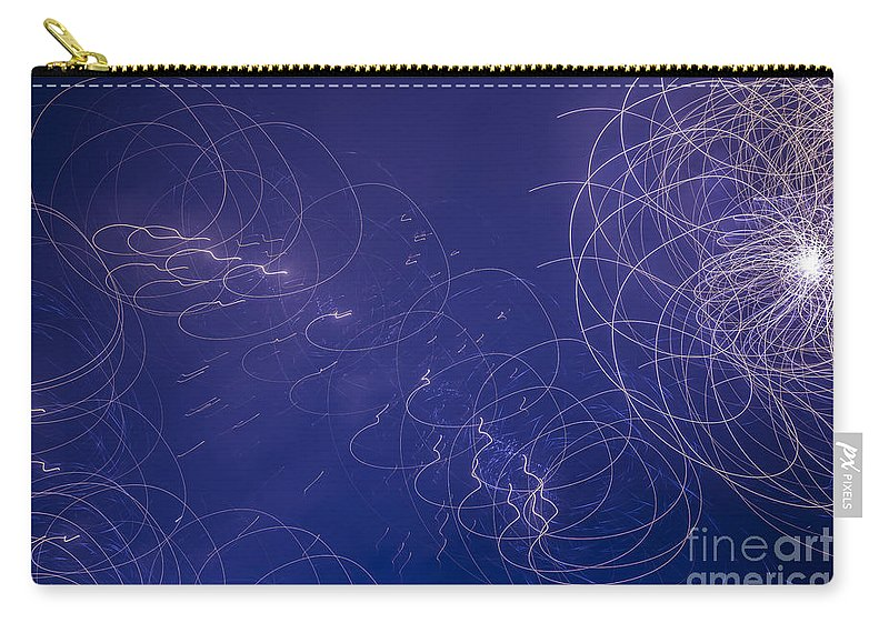Fireworks Carry-all Pouch featuring the photograph Fireworks by Mats Silvan