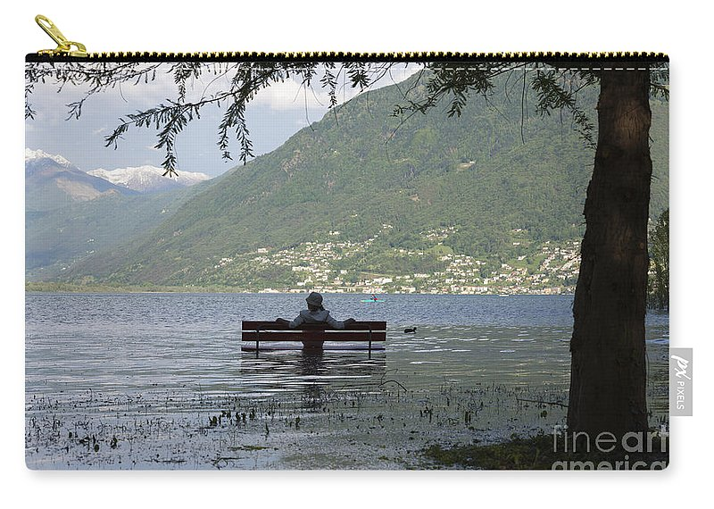Woman Carry-all Pouch featuring the photograph Flooding Lake by Mats Silvan