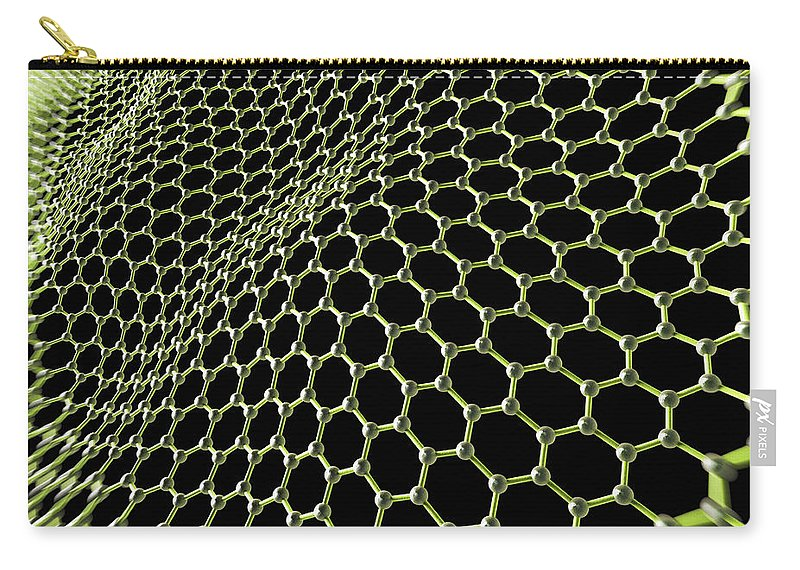 Honeycomb Lattice Carry-all Pouch featuring the photograph Graphene Structure by Science Picture Co