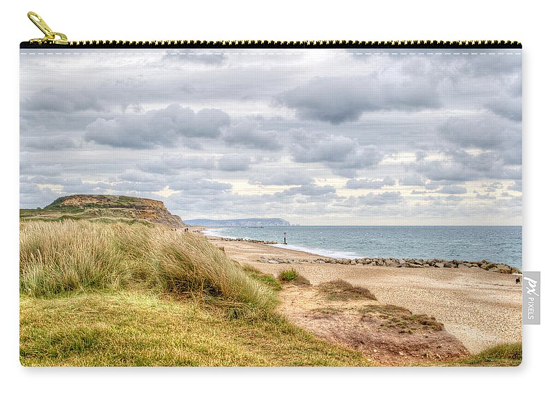 Hengistbury Head Carry-all Pouch featuring the photograph Hengistbury Head by Chris Day