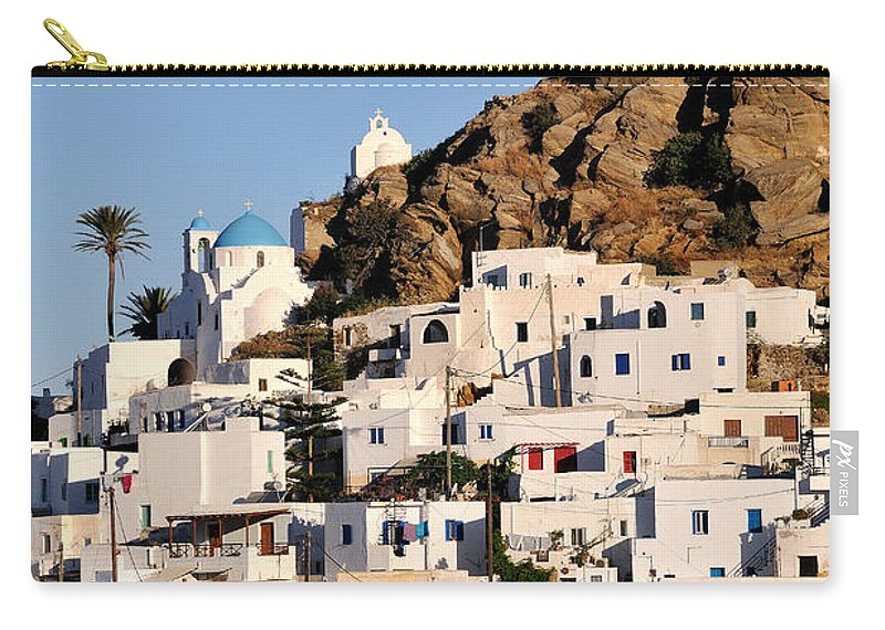 Ios Carry-all Pouch featuring the photograph Ios Town by George Atsametakis
