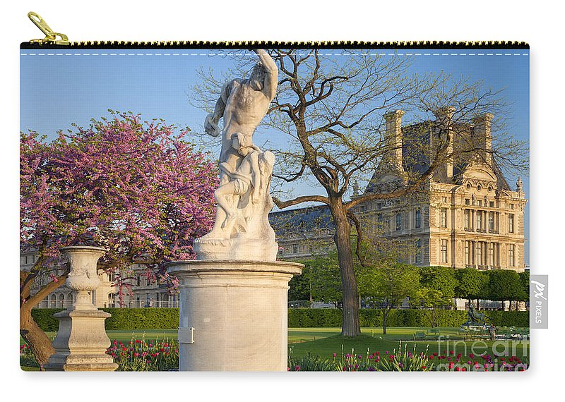 Architecture Carry-all Pouch featuring the photograph Jardin Des Tuileries by Brian Jannsen