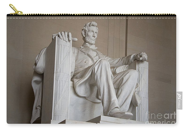 Lincoln Memorial Carry-all Pouch featuring the digital art Lincoln Memorial by Carol Ailles