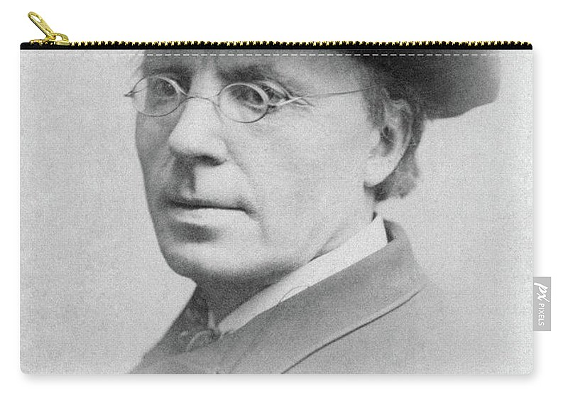 1890 Carry-all Pouch featuring the photograph Man, 19th Century by Granger