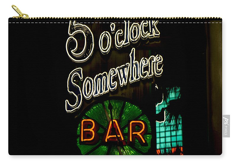 5 O'clock Somewhere Bar Carry-all Pouch featuring the photograph 5 O'clock Somewhere Bar by Nina Prommer