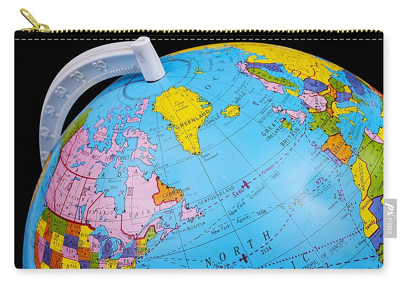 Old rotating world map globe carry all pouch for sale by donald erickson globe carry all pouch featuring the photograph old rotating world map globe by donald erickson gumiabroncs Gallery