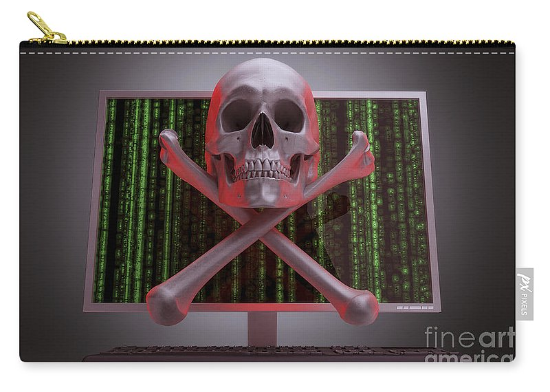 Information Theft Carry-all Pouch featuring the photograph Online Security by Science Picture Co