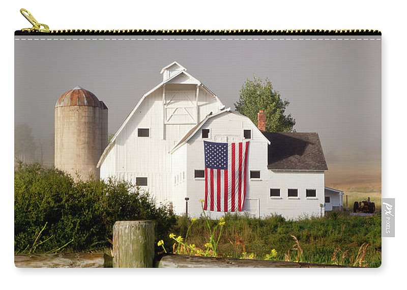 White Carry-all Pouch featuring the photograph Park City Barn by Brian Jannsen