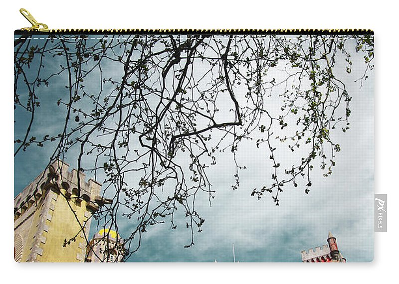 Lisbon Carry-all Pouch featuring the photograph Pena Palace by Carlos Caetano