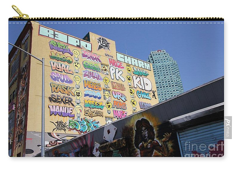 Art Carry-all Pouch featuring the photograph 5 Pointz Graffiti Art 2 by Allen Beatty