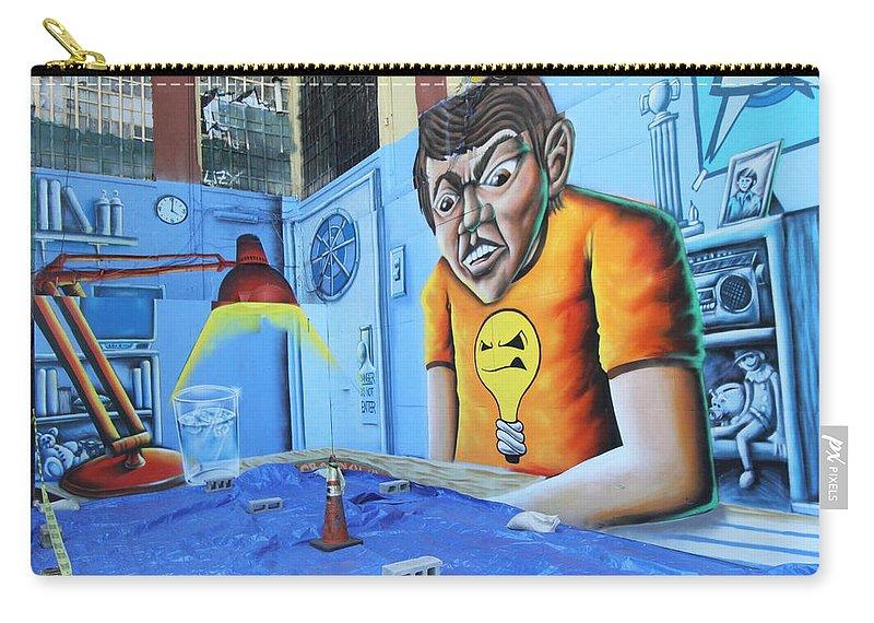 Art Carry-all Pouch featuring the photograph 5 Pointz Graffiti Art 5 by Allen Beatty