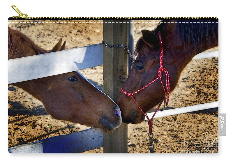 Rancho Oso Carry-all Pouch featuring the photograph Rancho Oso - California by Yefim Bam