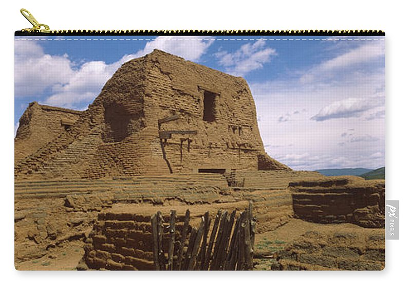Photography Carry-all Pouch featuring the photograph Ruins Of The Pecos Pueblo Mission by Panoramic Images